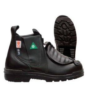 "Tatra 6"" Black Slip-On Leather Welders Gaiter Safety Boots"