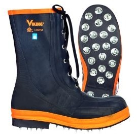 Viking® Spiked Forester® Boots w/Steel Toe