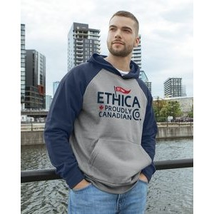 Ethica unisex hooded and raglan sleeve sweater